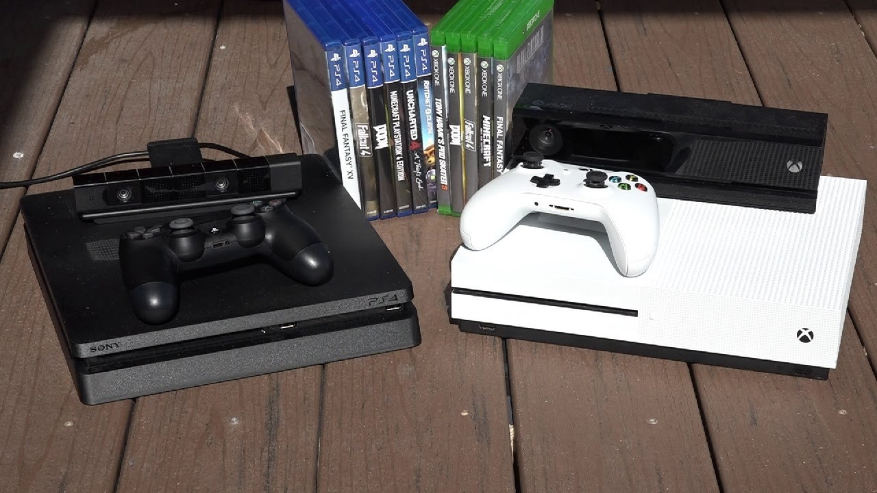 PS4 Slim VS Xbox One S a side by side comparison of the $300 consoles - YouTube