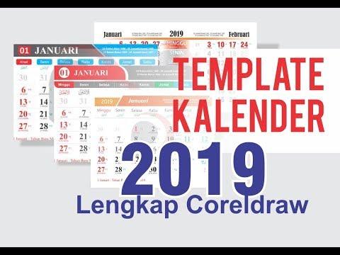 Template Kalender 2019 Lengkap Coreldraw
