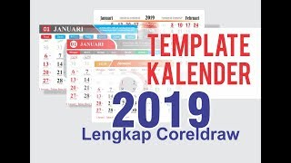 Gambar cover Template Kalender 2019 Lengkap Coreldraw