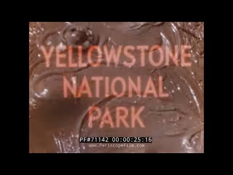 """VACATION LAND U.S.A."" YELLOWSTONE NATIONAL PARK in the 1950s TRAVELOGUE 71142"