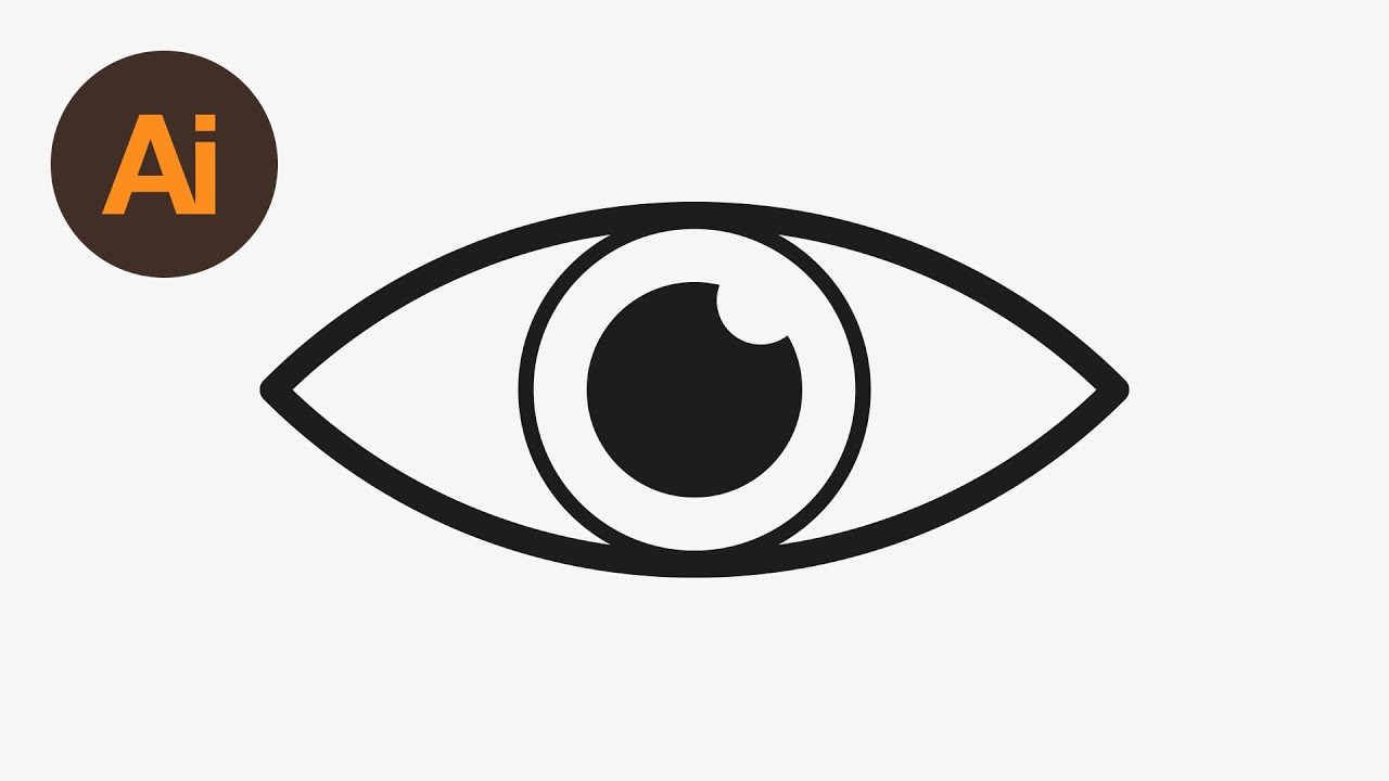 Learn How To Draw An Eye Icon In Adobe Illustrator Dansky Youtube