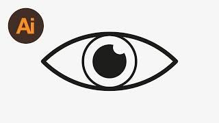 Learn How to Draw an Eye Icon in Adobe Illustrator   Dansky