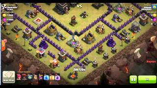 clash of clans : 3 stars on MAXED TH9 defenses in clan wars (balloons only)