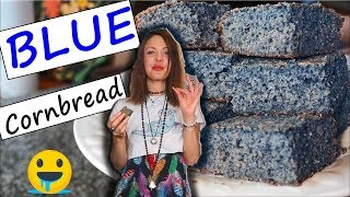ULTIMATE HEALTHY GLUTEN FREE BLUE CORNBREAD RECIPE 🤤