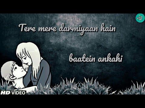 Tere Mere Darmiyaan Hai Baatein Ankahi Female Version Whatsapp Status   Tere Mere Song   Status King