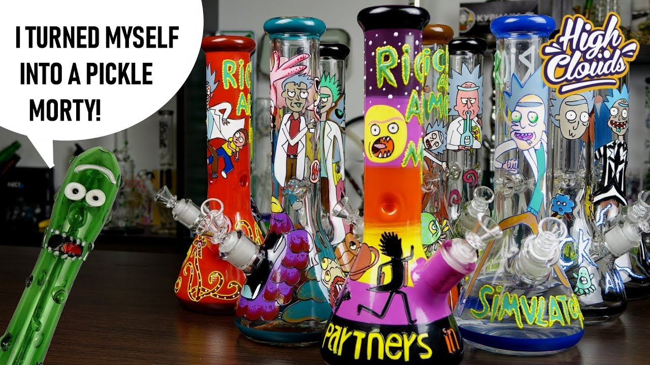 Rick and Morty bongs + Pickle Rick pipe | эпичный обзор!