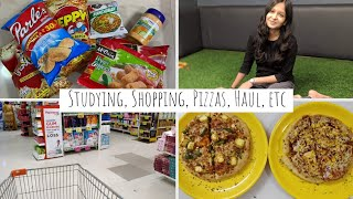 Vlog: A Productive Weekend In My Life | Studying, Shopping, Pizzas, Haul, etc