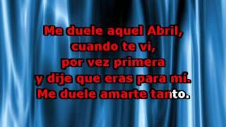 Me Duele Amarte - Reik (con letra Karaoke)
