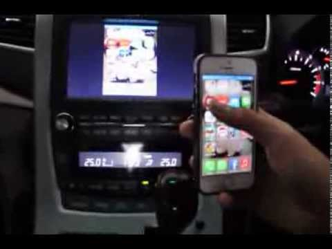 toyota vellfire installed with wireless 39 mirrorlink 39 to apple iphone 5s youtube. Black Bedroom Furniture Sets. Home Design Ideas