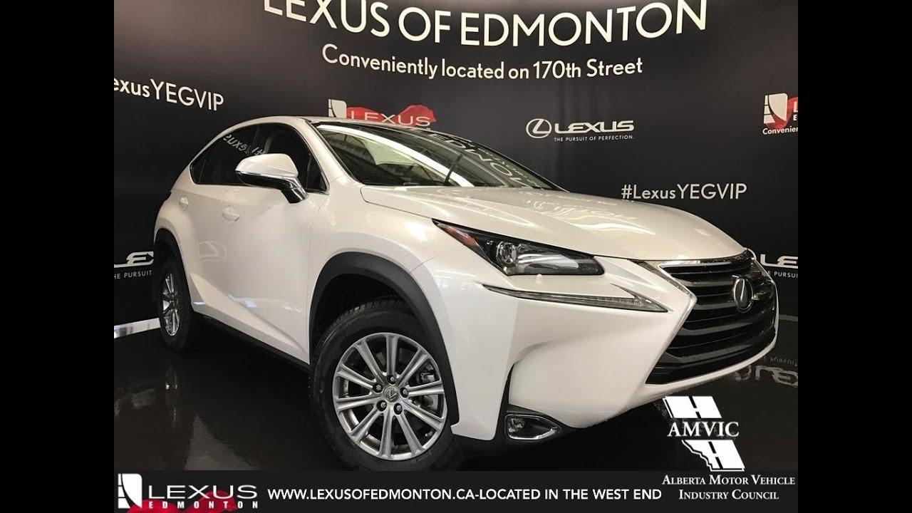 2017 White Lexus Nx 200t Awd Standard Equipment In Depth Review South Edmonton Alberta You