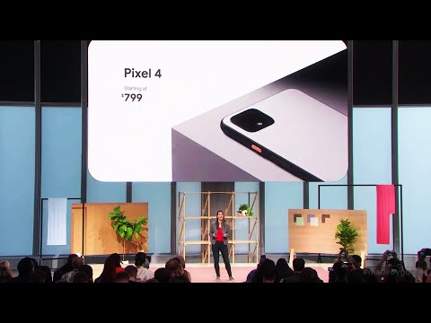 Pixel 4 full reveal at the Made By Google event
