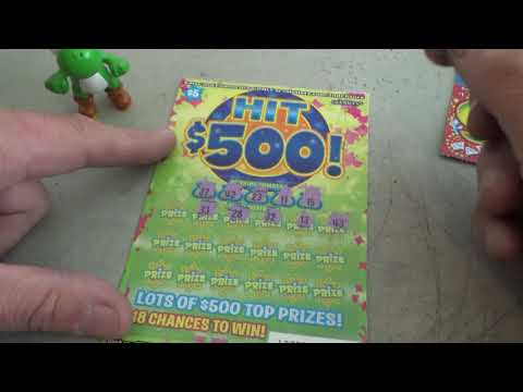 #2 Lottery Challenge Scratcher Tickets From Nevada Arcade Channel & Yoshi