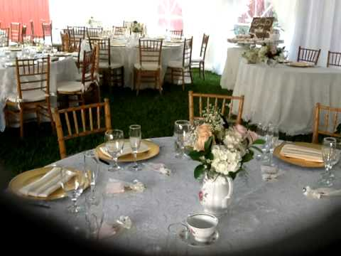 Vintage Wedding by Top Notch Linens & Party Rentals