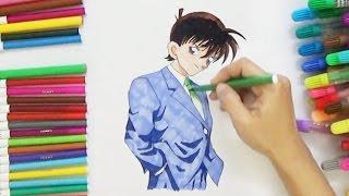 How to draw Shinichi Kudo from Detective Conan | D4K