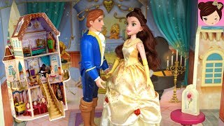 Disney Princess Belle Doll Morning routine in the enchanted castle ...