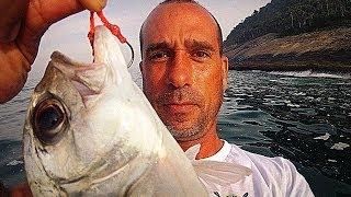 Pampo e Xaréu na Ilha de Palmas (Grumari) - Pesca com Caiaque - Kayak Fishing - Leogafanha