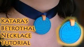 Katara's Necklace Avatar the Last Airbender Polymer Clay Tutorial / Arcilla Polimérica