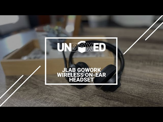 UNBOXED JLAB GOWORK WIRELESS ON EAR HEADSET