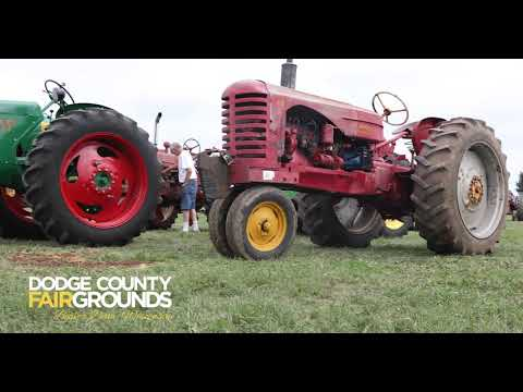 Wisconsin Farmers compete in Tractor Pull at Dodge County Fair