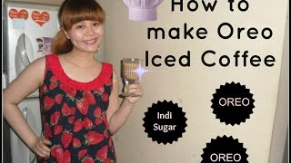 How to Make Oreo Iced Coffee (with Indi Sugar~chef wannabe) :D