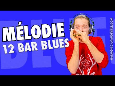 Mélodie 12 Bar Blues (Harmonica En C Débutant)
