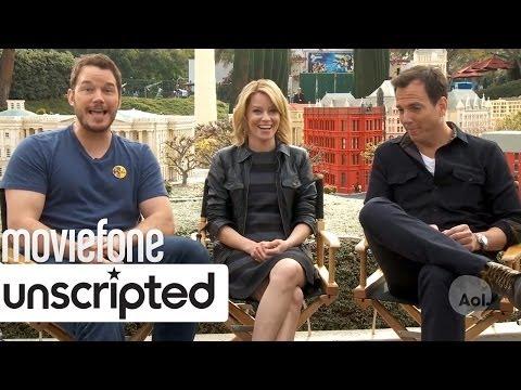 'The Lego Movie' | Unscripted | Chris Pratt, Elizabeth Banks, Will Arnett