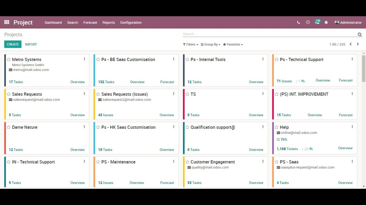 Odoo Project Management - Strategic Planning & Team Management