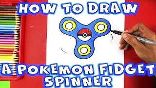 How to Draw a Pokemon Fidget Spinner