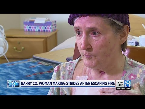 Barry Co. Woman making strides after escaping fire