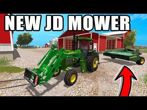 FARMING SIMULATOR 2017 | WE BOUGHT A NEW JD BALER & WINDROWER + MAKING HAY | NO CREEK EP #6