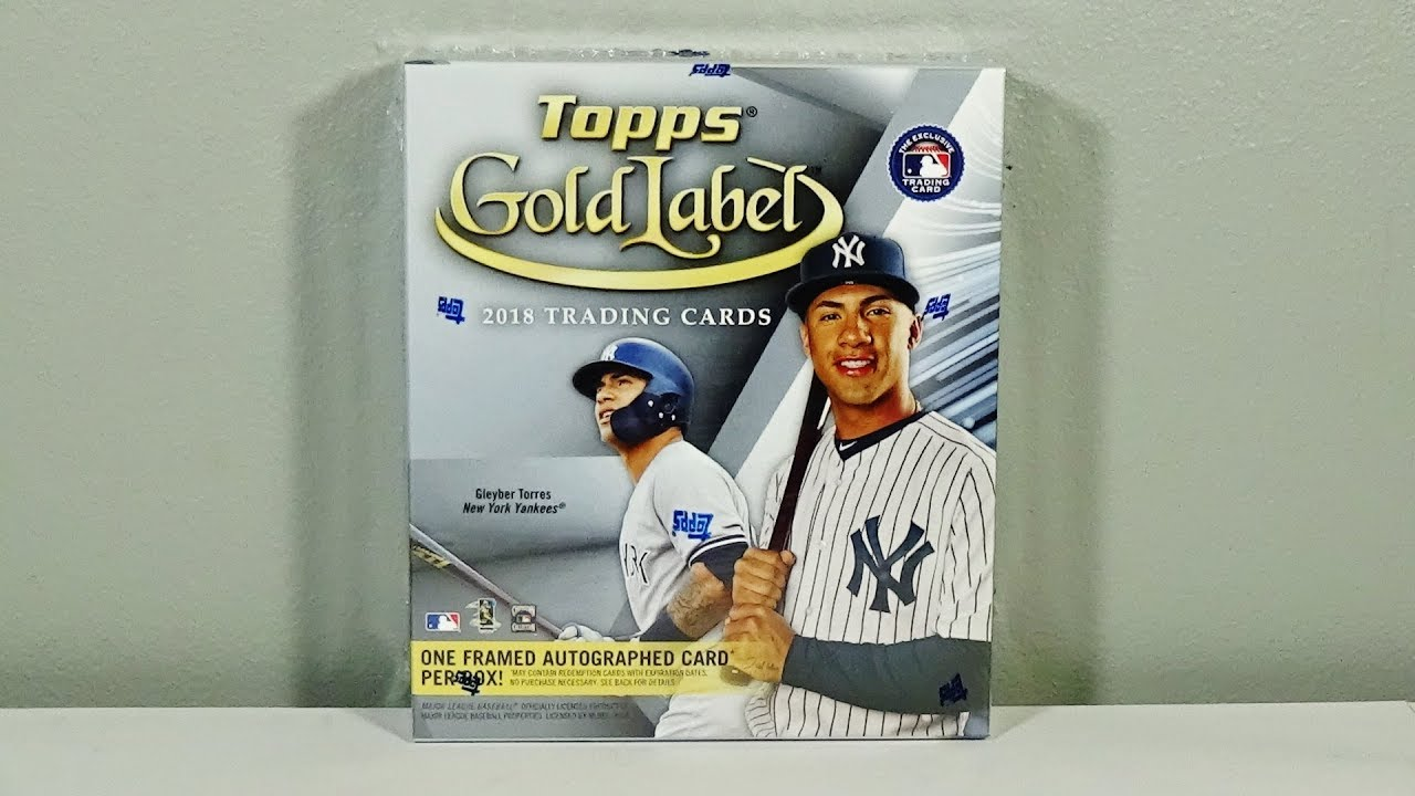 2018 Topps Gold Label Baseball Hobby Box Break Awesome