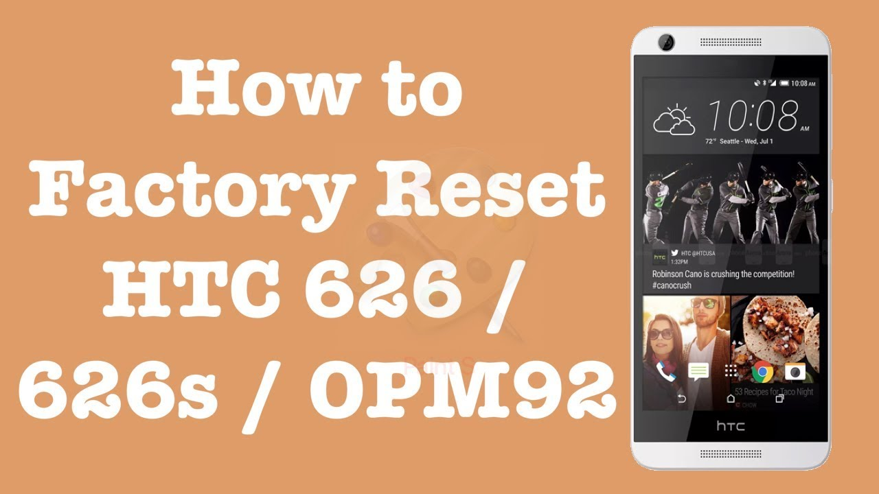 How to Factory Reset HTC 626 | HTC 626S | HTC OPM92 | NexTutorial