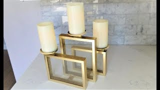 Another Dollar Tree Picture Frame Candle Holder