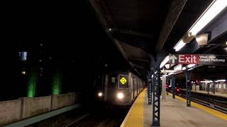 NYC Subway | R68 (Q) Train @ Ocean Parkway & Parkside Ave