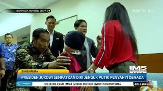 Presiden Jokowi  Jenguk Putri Penyanyi Denada