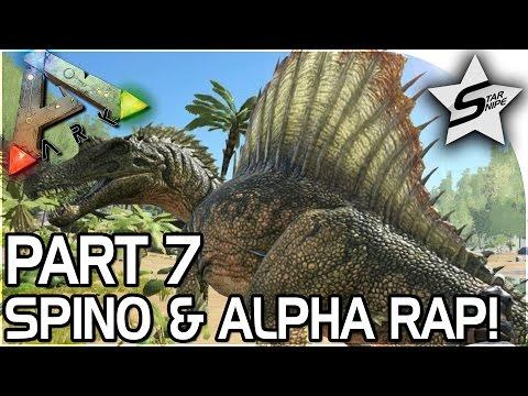 SPINOSAURUS, CLOSE ALPHA RAPTOR ENCOUNTER  - ARK Survival Evolved PS4 PRO Gameplay Part 7