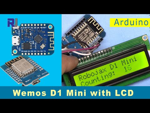Using LCD With Wemos D1 Mini ESP8266 With Arduino