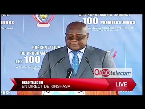 RDC: Président Felix Tshisekedi Présente Les Programmes  De 100 Première Jours