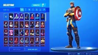 Captain America LEAKED Skin in Fortnite (Leaked Fortnite Skins & Emotes, Pickaxe, Backbling)