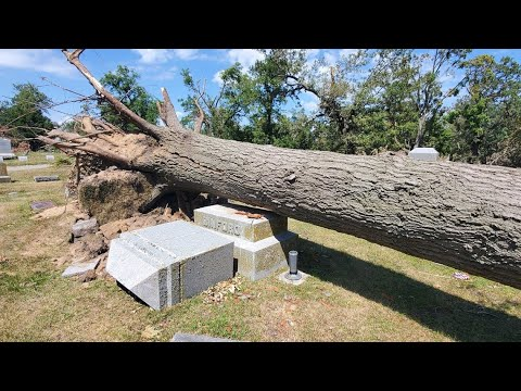 'There Are No Words': Marshalltown Cemetery In Shambles Following Derecho