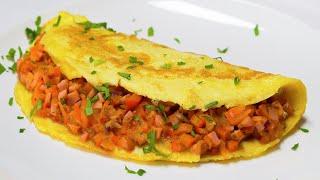 Омлет с овощами и сосисками. Американская кухня.  Рецепт от Всегда Вкусно!