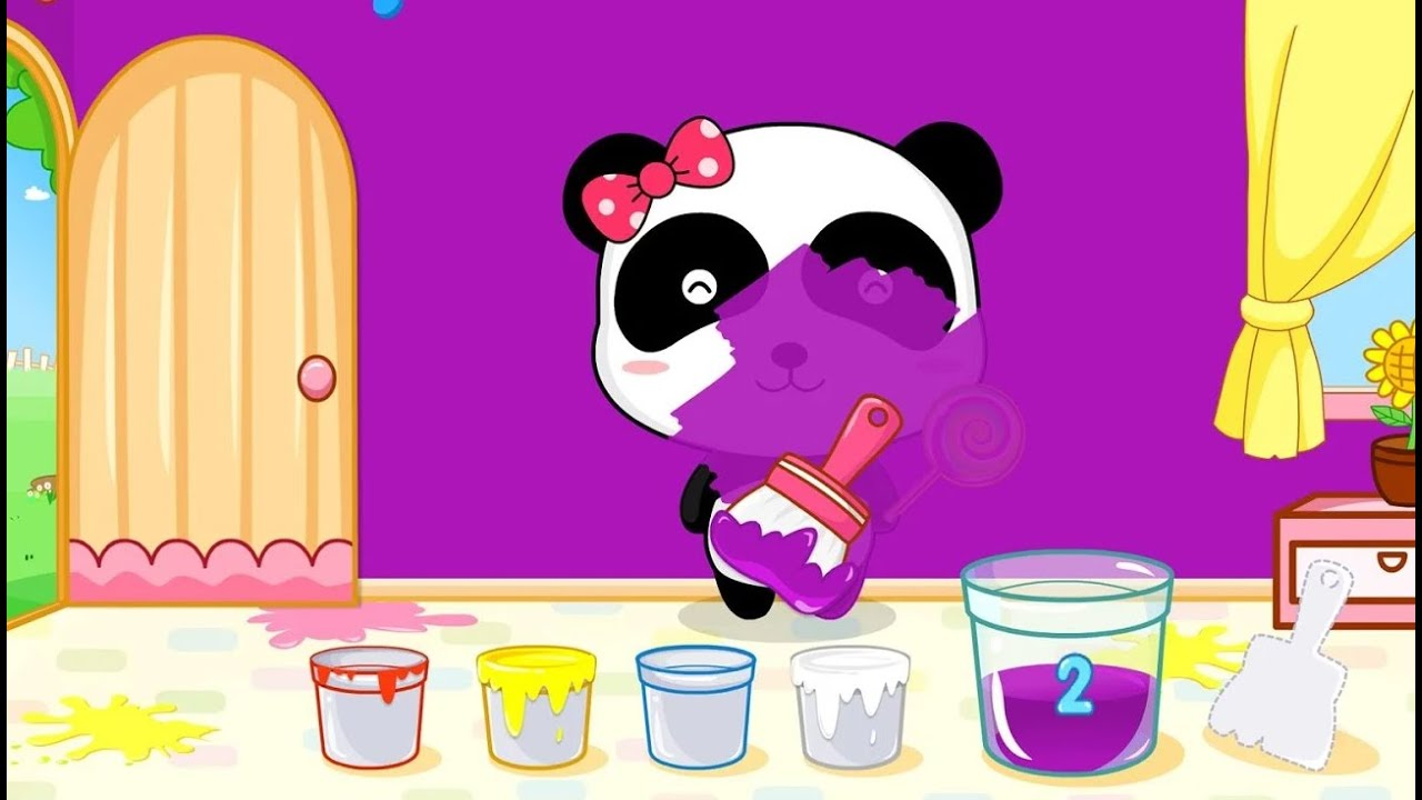 Game for colors - Baby Learn Colors With Little Panda Color Mixing Fun Baby Panda Kids Games Youtube