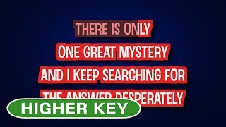 One Great Mystery - Lady Antebellum   Karaoke Higher Key