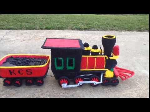 3D Origami Steam Engine And Coal Car Train By Kenny Pollard