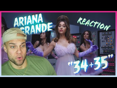 Ariana Grande - 34+35 (Official Video) REACTION!! w/ Aaron Baker