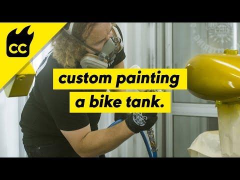Custom Craft | Karl Stehn | Custom Painting a Bike Tank