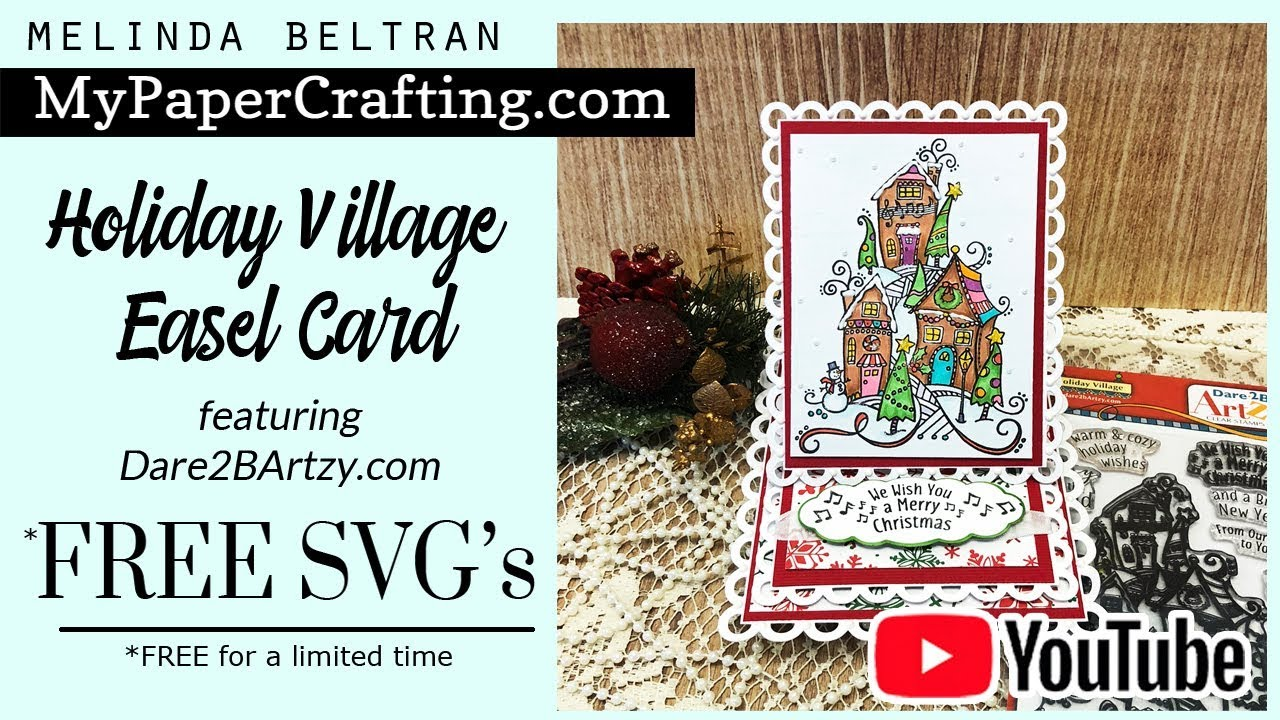Dare 2 B Artzy Christmas Card Free Svg Cricut Christmas Card Silhouette My Paper Crafting Youtube