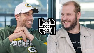 Aaron Rodgers and Bon Iver's Justin Vernon Have an Epic Conversation | One-on-One | GQ Sports