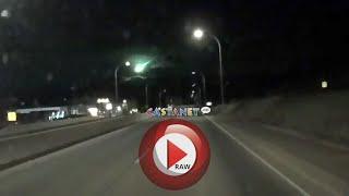 Green fireball flies over Kelowna