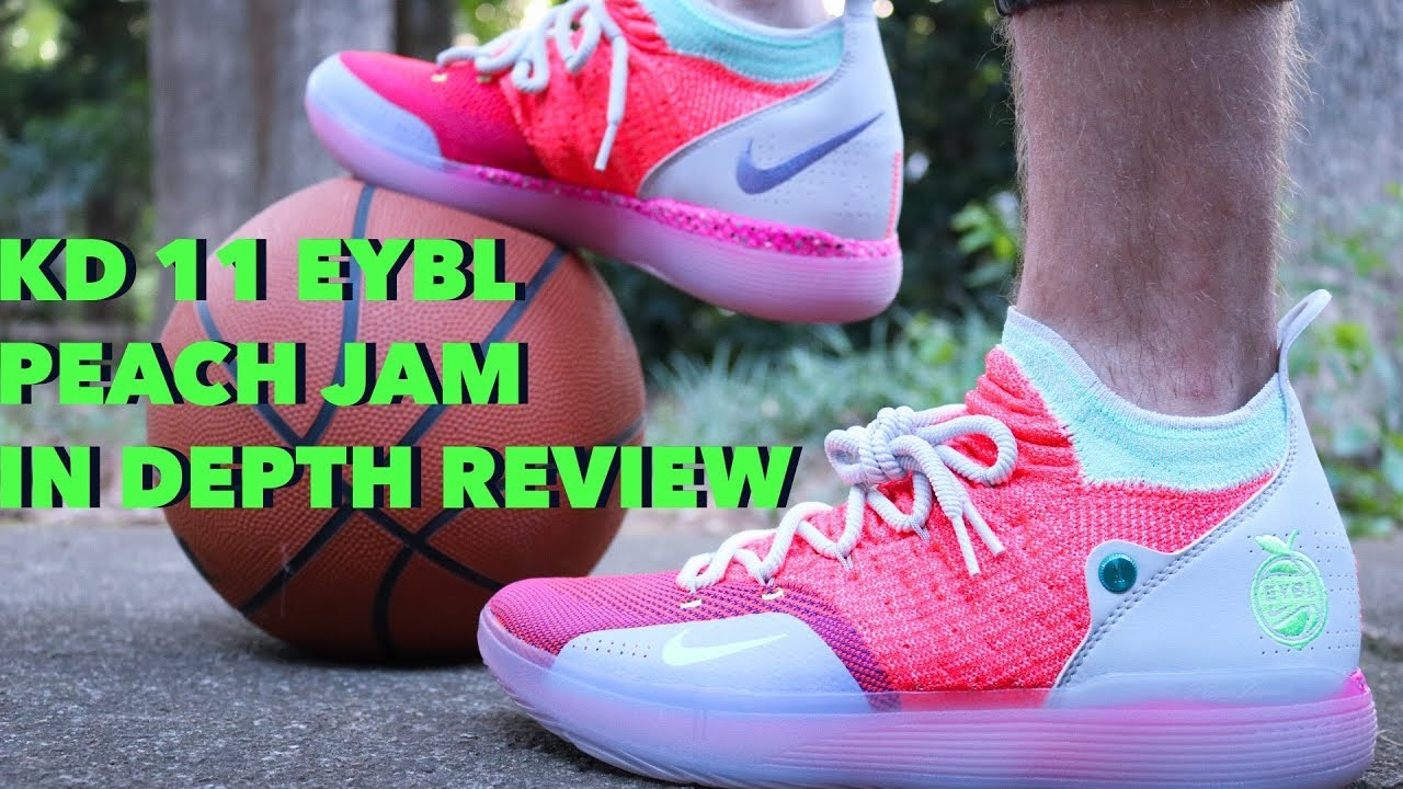 dae80fbfb0fd Nike KD 11 EYBL Peach Jam In Depth Breakdown Review Plus Lit On Feet!